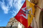 Bandiera della sicilia — Foto Stock