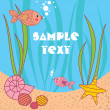 Royalty-Free Stock Vector Image: Card with cartoons fish