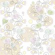 seamless floral wallpaper romantische — Stockvektor