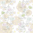 Seamless floral romantic wallpaper — Vector de stock #2808100