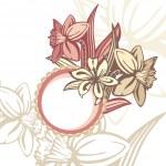 Retro floral frame — Stock Vector