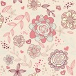 Seamless romantic wallpaper — Imagen vectorial