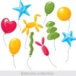 Balloons collection — Stock Vector