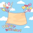 Stock Vector: Cute birthday card
