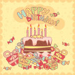 Happy birthday card — Wektor stockowy