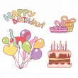 Nice elements for birthday — Stock Vector