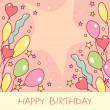 Happy birthday card — Stock Vector #2824150