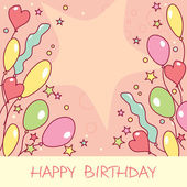 Happy birthday card — Vetorial Stock
