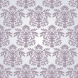 Seamless silver damask wallpaper - Stock Vector