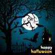 Halloween vector illustration scene - Stock Vector