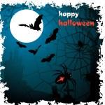 Halloween vector illustration scene — Stock Vector
