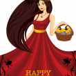 Beautiful halloween witch — Stock Vector