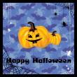 groeten van halloween-kaart — Stockvector