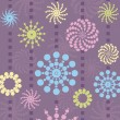 Vector de stock : Abstract vector floral background