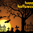 Halloween vector illustration scene — Stockvector #2846674