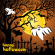 Halloween vector illustration scene — Stockvectorbeeld