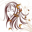 Royalty-Free Stock Vectorafbeeldingen: Girl with butterflies