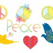 Set of peace symbols — Image vectorielle