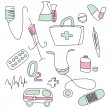 Collection of medical signs - Stock Vector