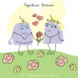 Vecteur: Cute valentine`s day card