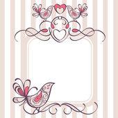 Bruiloft frame — Stockvector
