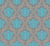 Seamless damask wallpaper — Stock Vector