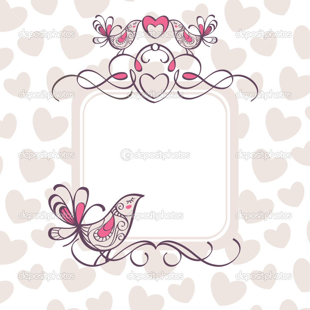 Wedding frame - Stock Illustration