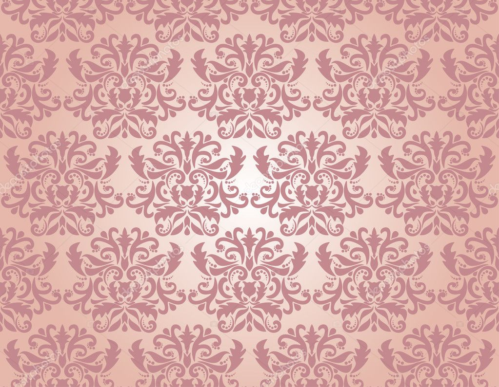 Seamless damask pattern, vector illustration — Stock Vector #2846217