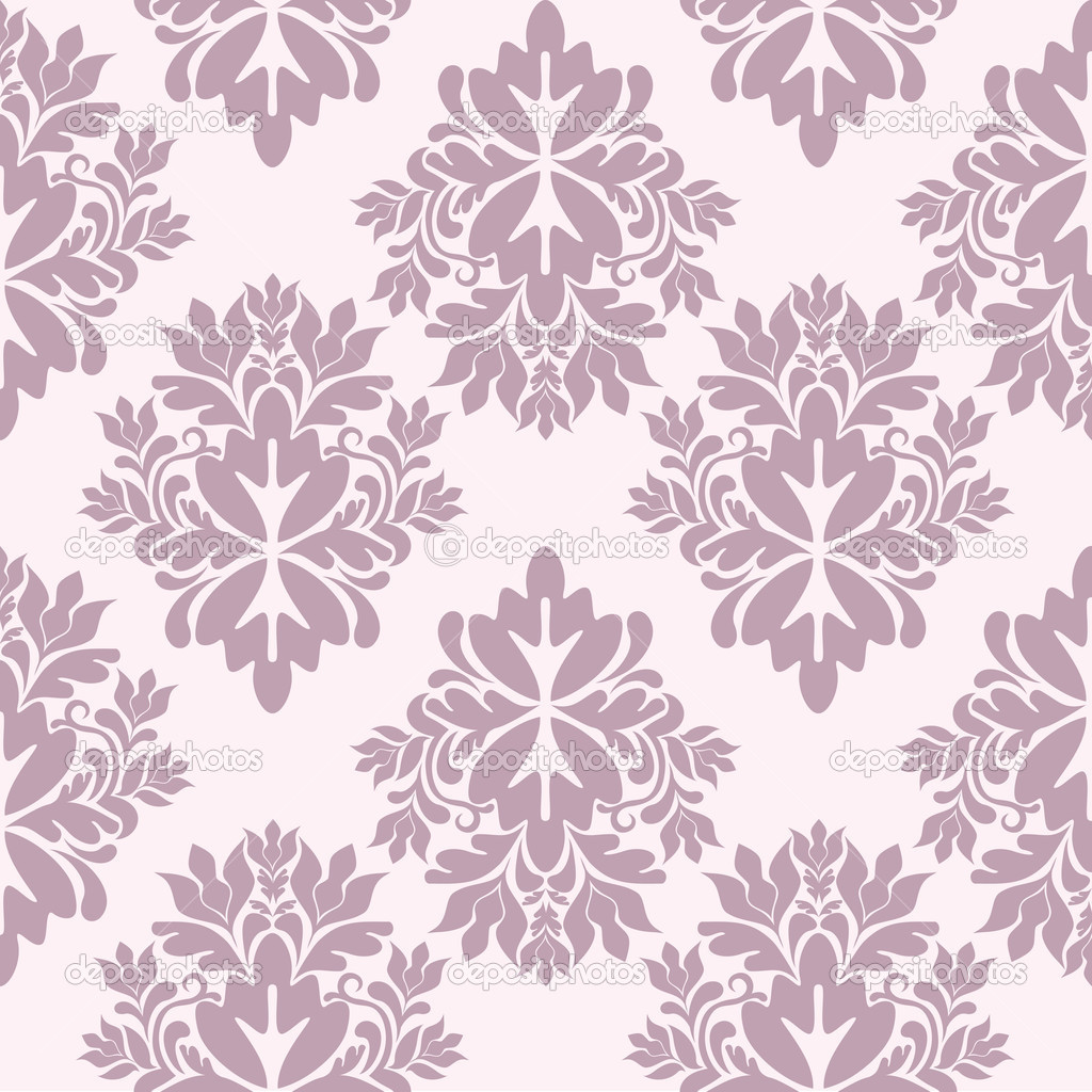 Seamless damask wallpaper, vector illustration — Stock Vector #2846331