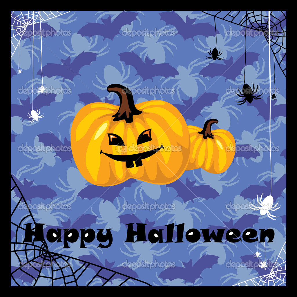 Greeting card with halloween pumpkin — Stock Vector #2846512