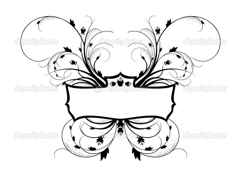 Royal floral frame, vector illustration — Stock Vector #2846718