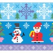 Royalty-Free Stock Vector Image: Christmas embroidery seamless background