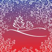 Artistic christmas card — Stock Vector