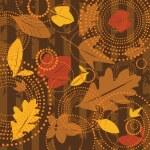 Seamless autumn background — Stock Vector