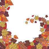 Abstract autumn frame — Stock Vector