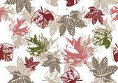 Seamless grunge autumn background — Stock Vector