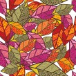Seamless autumn background — Vector de stock