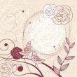 Cute floral frame - Imagen vectorial