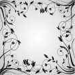 Abstract floral curly frame — Imagen vectorial