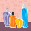Collection of different perfumes - Stock Vector