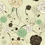 Seamless romantic wallpaper — Stock Vector