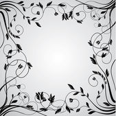 Abstract floral curly frame — Stock Vector