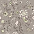 Vector de stock : Seamless vector floral background