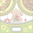 Stock Vector: Cute vector baby boy card