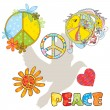 Set of various peace symbols — Image vectorielle