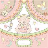 Vector cute baby card — Stock Vector