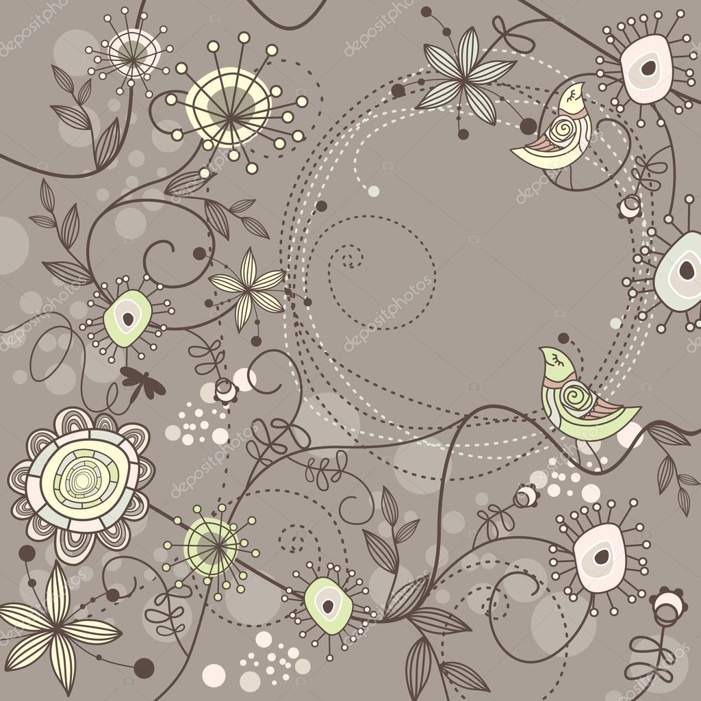 Right Click Here And Save The Cute Flower Pattern Background Image