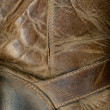 Stock Photo: Old Leather Boot Texture