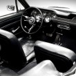Interior of the classic sports car - Stok fotoğraf