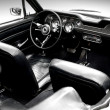 Interior of the classic sports car - Stock Photo